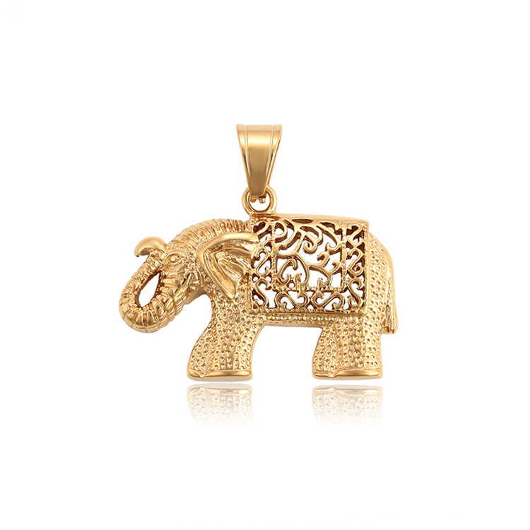 34202 Xuping cheap christmas gift 316 stainless steel <strong>charms</strong>+18k gold plated 316l elephant animals pendant jewelry