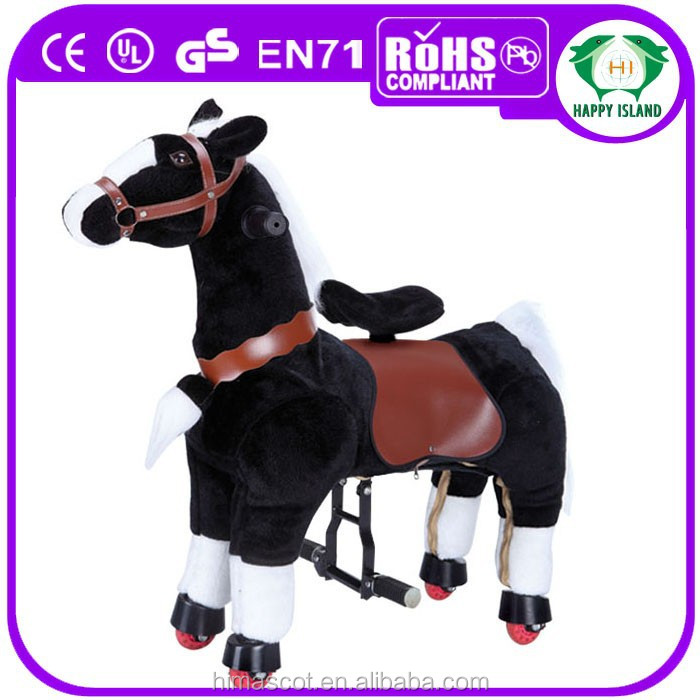 wonder horse spring rocking horse,adult rocking horse,plush rocking horse on wheels