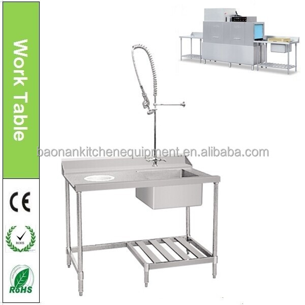 Stainless Steel Dish Washing Work Sink Table For Dishwasher - Buy ...