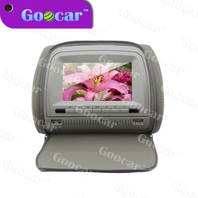 7 inch digital TFT LCD screen HDMI panel headrest car dvd with zipper cover