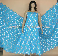 n003 sky blue new lace fabric
