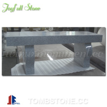 Granite bench tombstone and monument, bench headstone