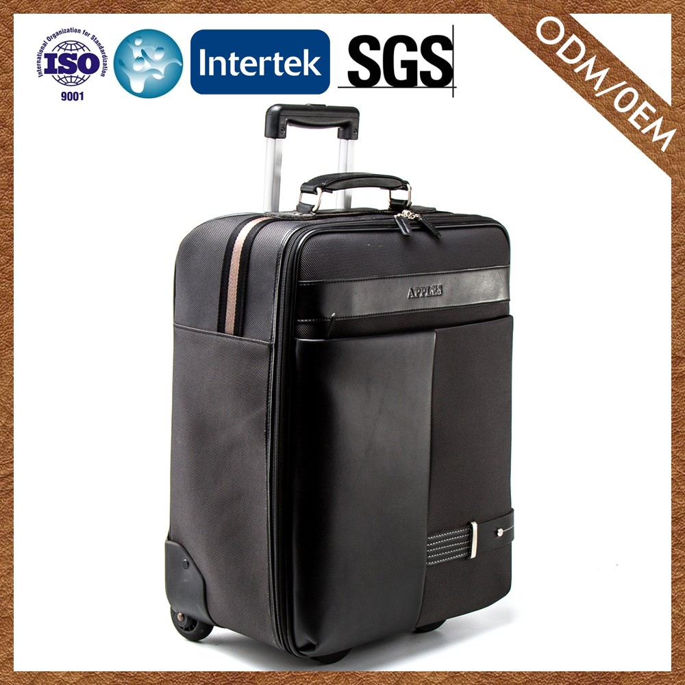 Supplier Newest Brand 100% Leather High Standard Travel Trolley Luggage