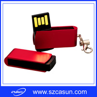 hot selling metal usb flash drives with keychain with real capacity