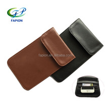 PU leather cell phone faraday cage EMP privacy bag