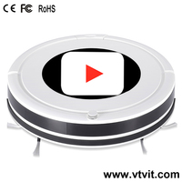 Smart Home/Office Vacuum Cleaner and Floor Mopping Robot with Camera Recognition Vision Mapping and Navigation System
