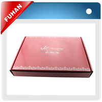 Fancy customized packing box with hot stamping technic for t-shirt