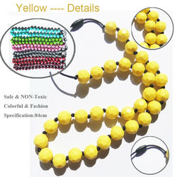 2015 Newest Design Fashion Jewelry Made in China Wholesale Silicone Teething Necklace