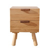 White Oak Wood Bedside Stand Drawer