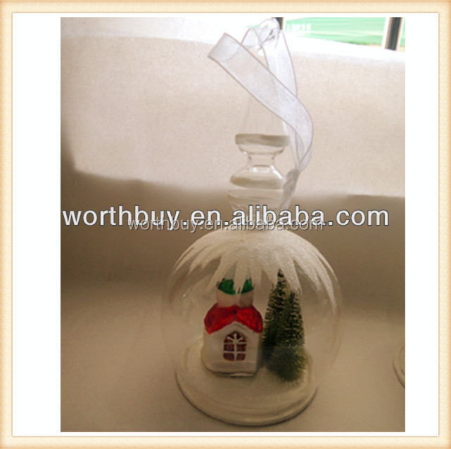 Whole sale Glass dome for with paper house and christmas tree in side from Shenzhen factory