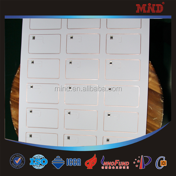 MDRI02 0.4mm/ 0.45mm/ 0.5mm 125khz em4100 RFID inlay/ PreLam sheet/ PVC sheet for making card