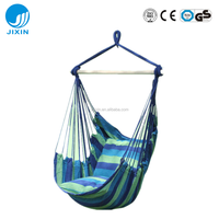 Garden Outdoor Hanging Leisure Hammock Swing Chair with two cushion