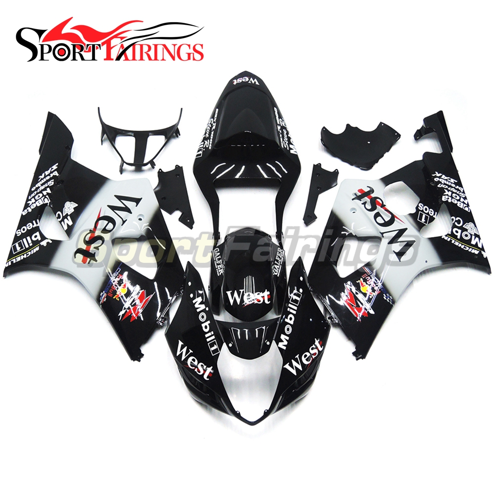 Injection Fairings For Suzuki GSXR1000 K3 03 04 Year ABS Plastic Complete Motorcycle Fairing Kit Body Kit Fitings West Black