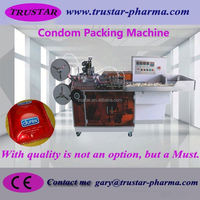 condom bags automatic cellophane film packing machine