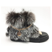 Factory price fashion flat women fur boots