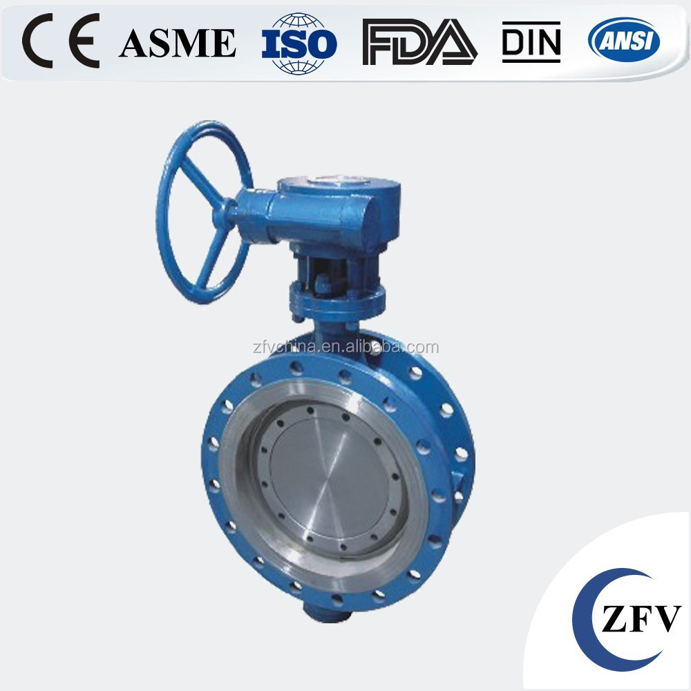 Factory Price metal seat wcb/stainless steel triple offset wafer type butterfly valve triple eccentric type low price