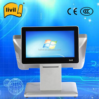 15 inch All In One PC, Customer Display Touch POS System, Point Of Sales Touch screen desktop computer