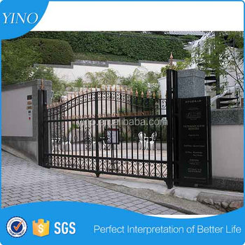 Wrought iron pipe gate design small iron gate IG-1-010