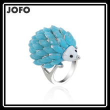 Jofo Brand Kids Jewelry Korean Design Lovely Resin Hedgehog Animal Rings For Children