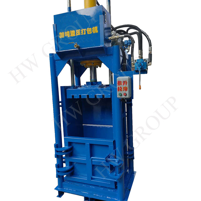 20ton hydraulic old clethes baler machine small packaged bailing machine