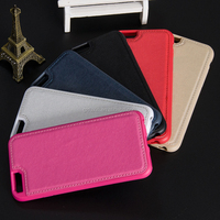 New arrival premium pu leather skin back cover TPU soft cell phone case for iphone 6