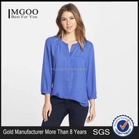 MGOO High Quality OEM Blouse Chiffon Viscose Women Tops Clothes Stock African Women Kaftans Long Sleeves