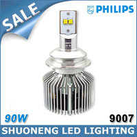 Free Shipping Hi/Lo Beam Philips 45W Guangzhou Factory HB5 9007 LED Car Lighting 4500lm