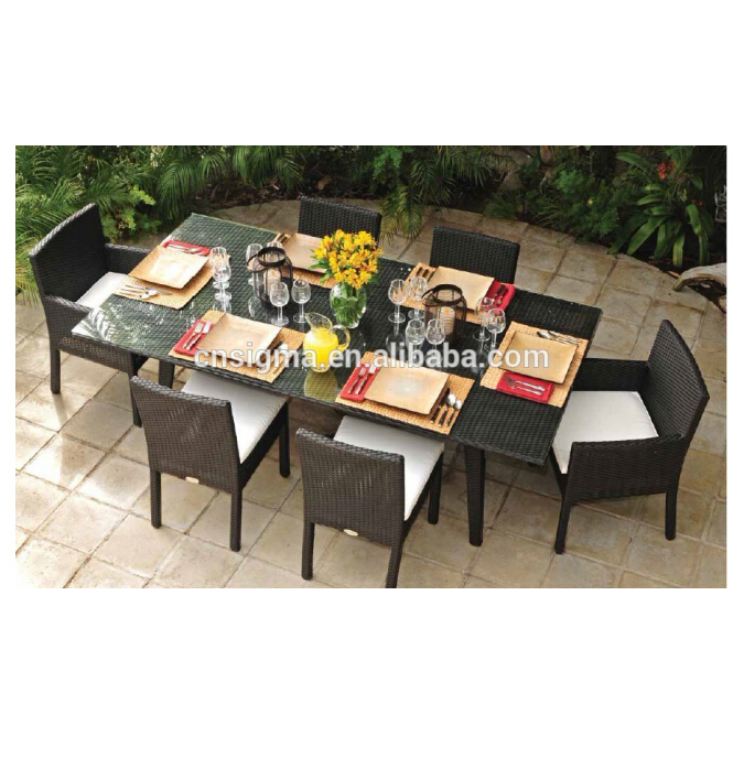 SIGMA rattan cane malaysia dining table set used banquet chairs for sale