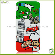 Heat transfer PC case for iphone 5c phone plastic cover