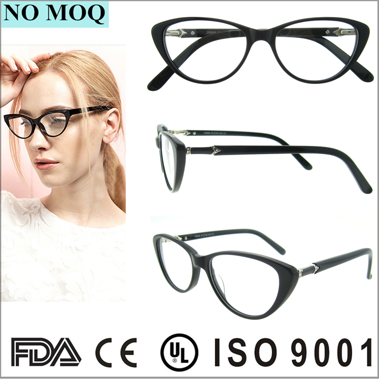 Factory Price Fashion Cat Eye Glasses Acetate Eye Glass Frames