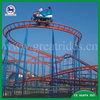 New funfair rides electric toy wild mouse roller coasters