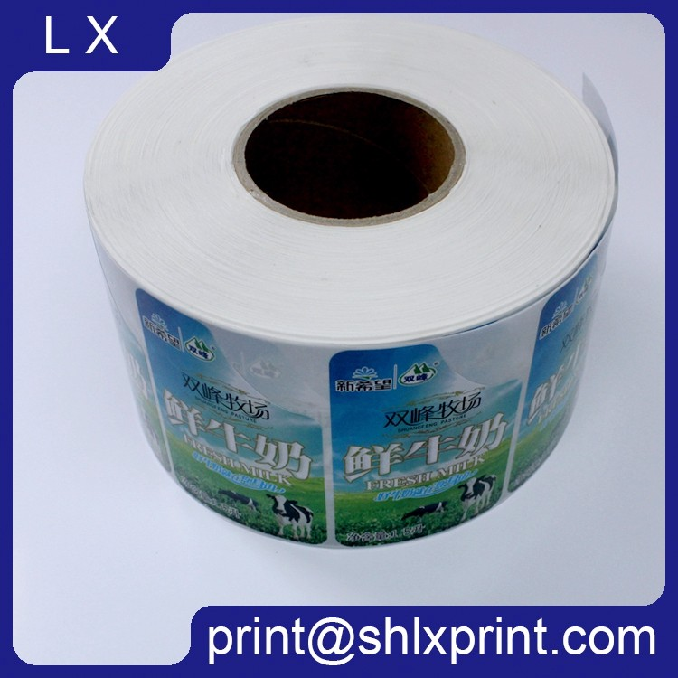 Custom Printed Adhesive Milk Bottle Sticker Label