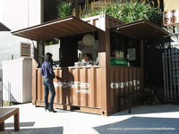 prefab shipping container coffee shop