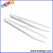 Body safe clear white disposable medical plastic tweezer