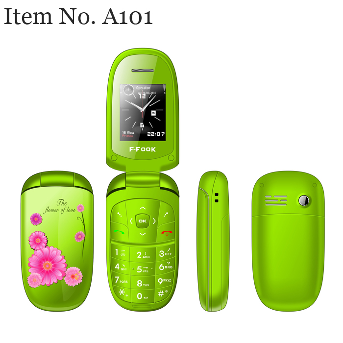Free Mobile Phone China Low Cost Phone Colorful Lady Flip Phone