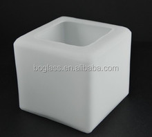 Square type frosted glass lamp shade used for shop lighting pendant