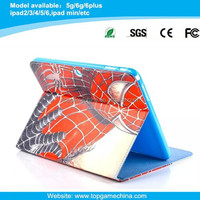 Cool spider man pattern leather case for Samsung galaxy Tab 4 10.1 T530