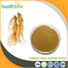 factory supply best quality 100% natral siberian panax ginseng extract ginseng root powder