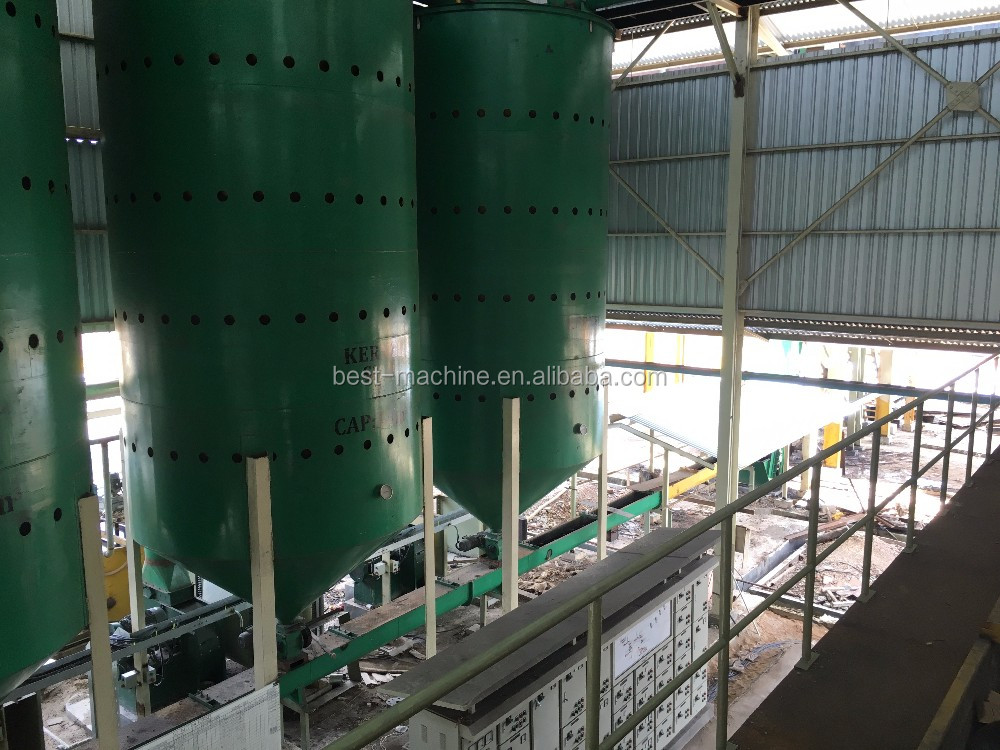 40TPH whole design palm fruit crude oil production line with best sale-after service