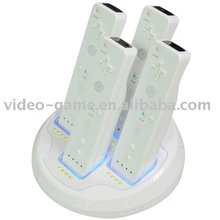 4x quad charger station for wii remote control
