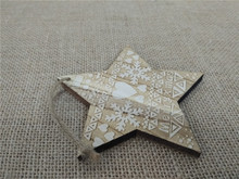Beautiful Christmas tree hanging wood star