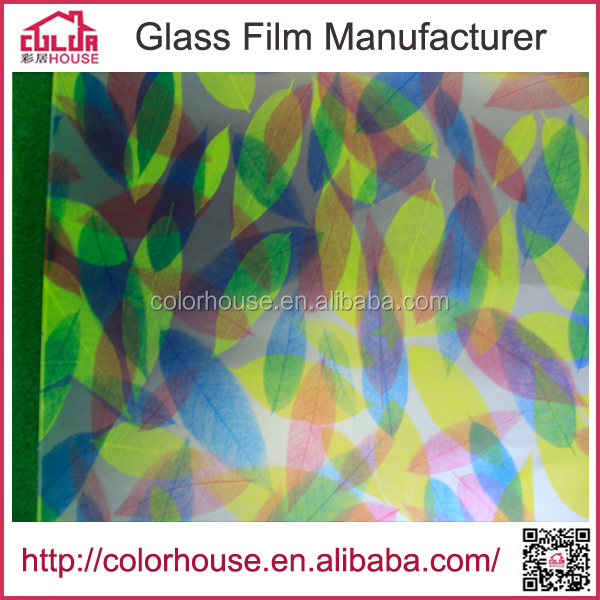 waterproof colorful printing decorative tinted window film with self adhesive