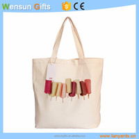 Recyclable Textile Shopping Cotton canvas Tote Bag for promotion