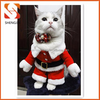 2015 Lovely Christmas Pet Clothes With plush collar New Pet Product For Dog Cute Dog Cat Clothes Red