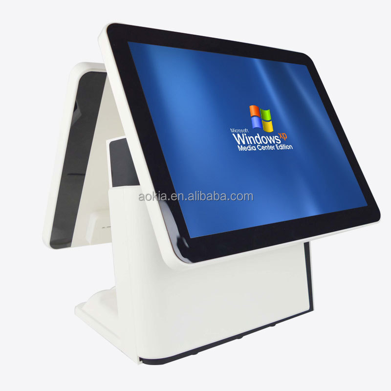 AK-915TD Double Touch Screen POS systems supermarket cashier equipment