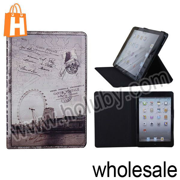 Retro Envelope Style Folio Leather Case Cover for iPad Mini/Retina iPad Mini with Stand
