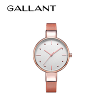 Fancy rose gold lady wrist watch customized personalized watch
