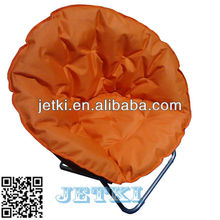 outdoor travel metal collapsible orange oversize planet chair