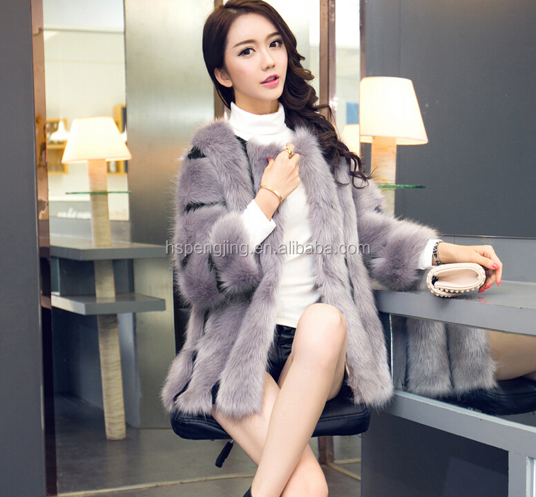 Woman's Winter Wear Long Natural Mink Fur Coats For Girls From China
