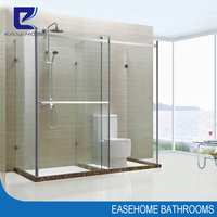 luxury stainless steel enclosed shower and toilet cabin